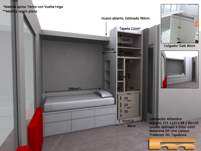 Armario_a_medida_habitación_Juvenil_decoracion_compartida_Alhambra_interior_Dalk_fondo80_3dint Sant Cugat del Vallès