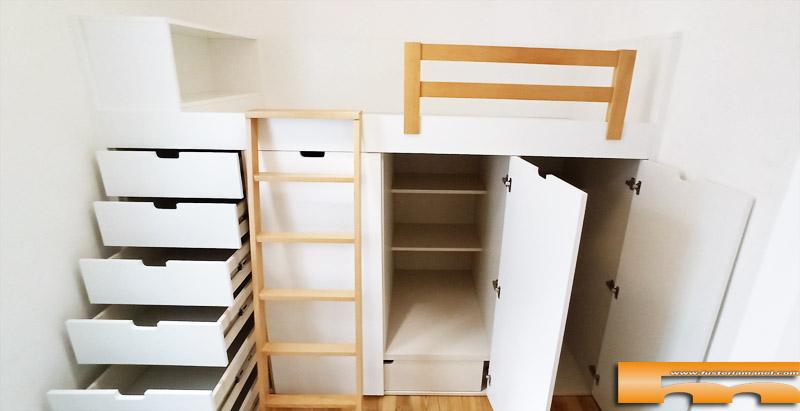 cama block a medida con cajones interior Barbara Barcelona
