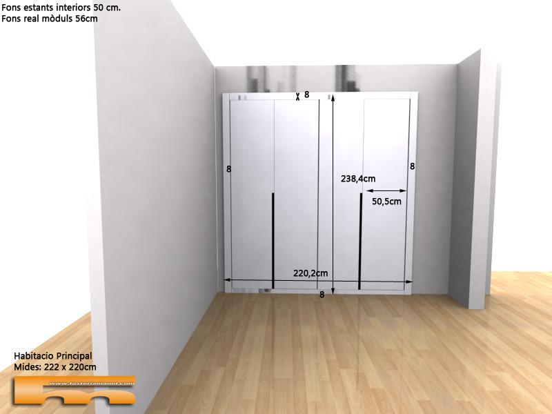 frontal-armario-lacado-blanco-con-tirador-rebajado-en-negro-detalle-3d-Javier-Sant-Cugat-del-Valles