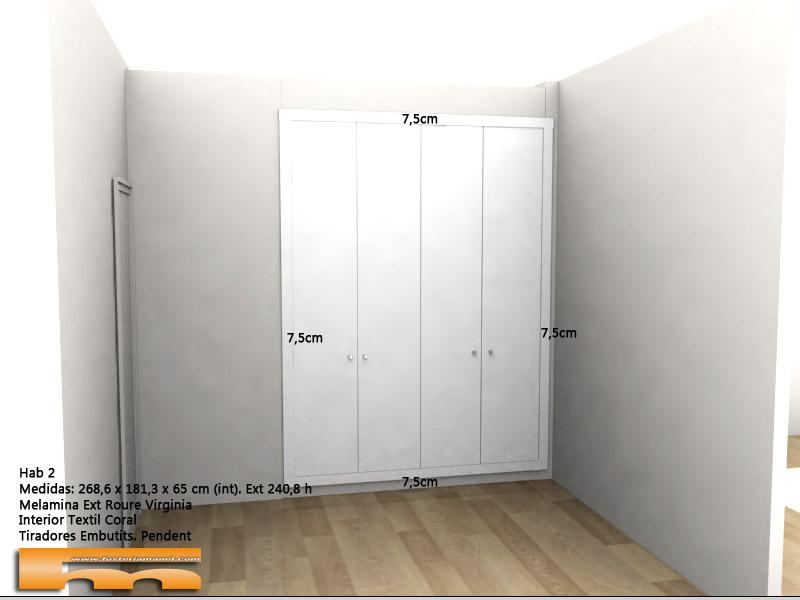 armario empotrado a medida 1 David Sant Just Desvern exterior 3d