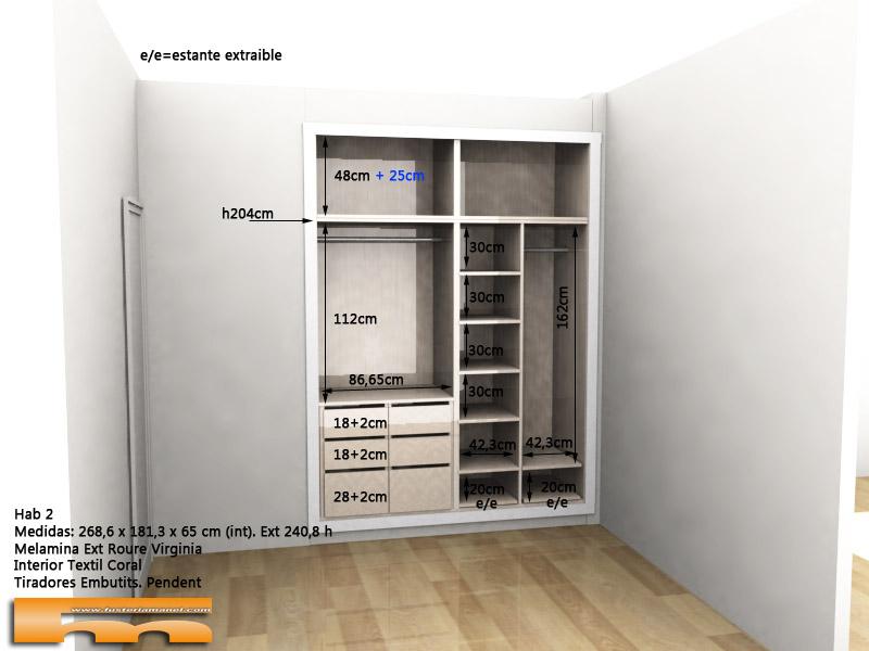 armario empotrado a medida 1 David Sant Just Desvern interior 3d