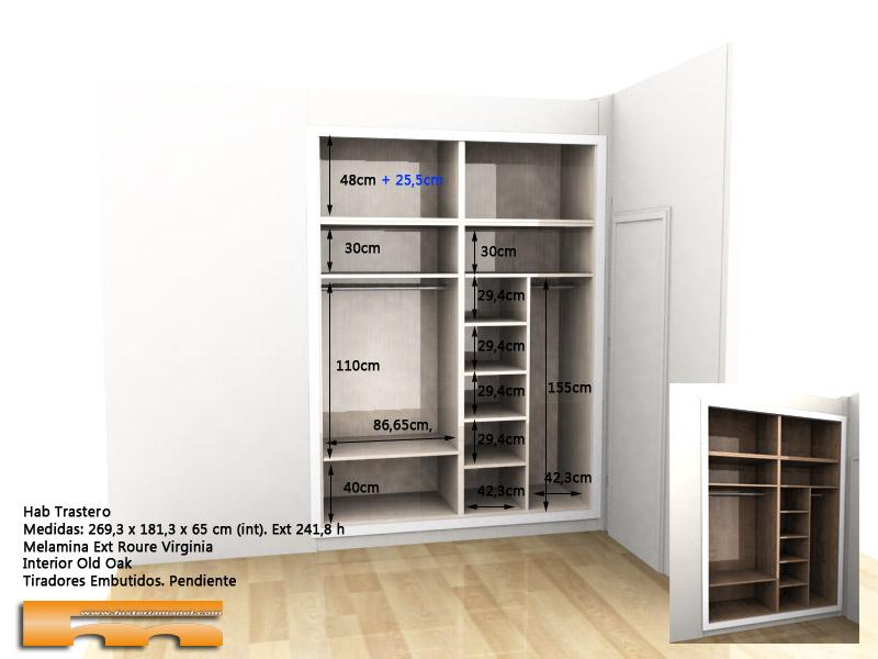 armario empotrado a medida 1 David Sant Just Desvern interior