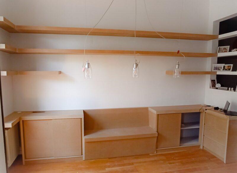 mueble banco almacenaje decoración a medida Manel Barcelona