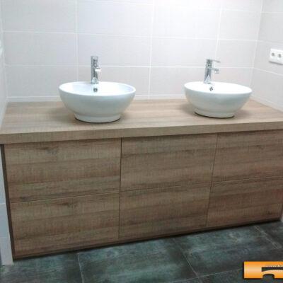 mueble de baño a medida decoracion rustica
