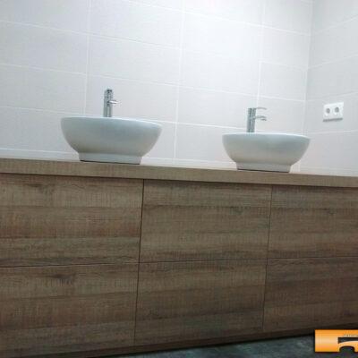 mueble de baño a medida decoracion rustica 2